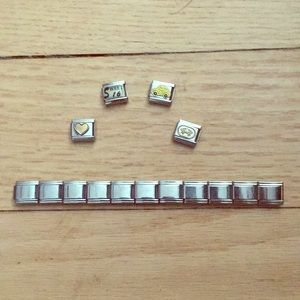 Jewelry - Square Charm Bracelet Pieces